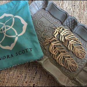 Kendra Scott Feather Earrings
